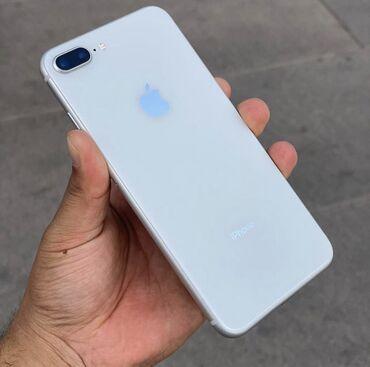 сколько стоит iphone 6 plus in Кыргызстан   APPLE IPHONE: IPhone 8 Plus   64 ГБ   Белый Б/У   Отпечаток пальца, С документами