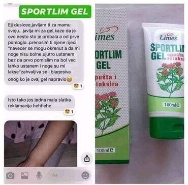 Sportski sako - Srbija: Jedan od najprodavanijih proizvoda ;) SPORTLIM GEL Lokalnom upotrebom
