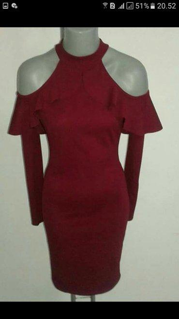 Bordo haljina,jednom nosena. Uni velicina - Krusevac
