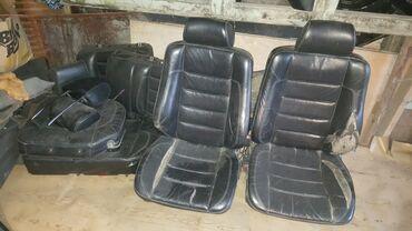 Кожаные сиденья спортлаин на w124 универсал передние сиденья с электро