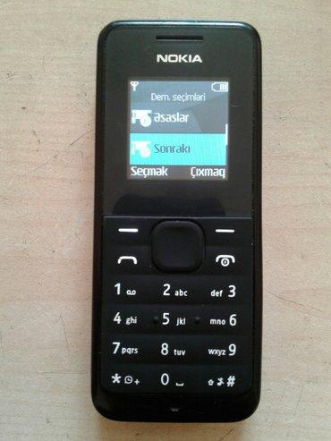 Mingəçevir şəhərində Nokia 105    salam əleykum. Problemi yoxdu. Adaptırıda var.