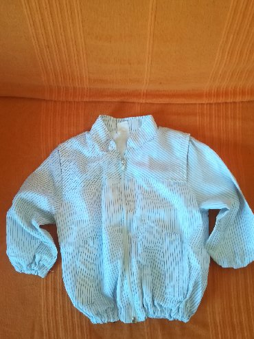 Snezno-bela - Srbija: Bela jaknica sa rajfešlusom vel 94, obim ispod pazuha 60 cm, dužina 35