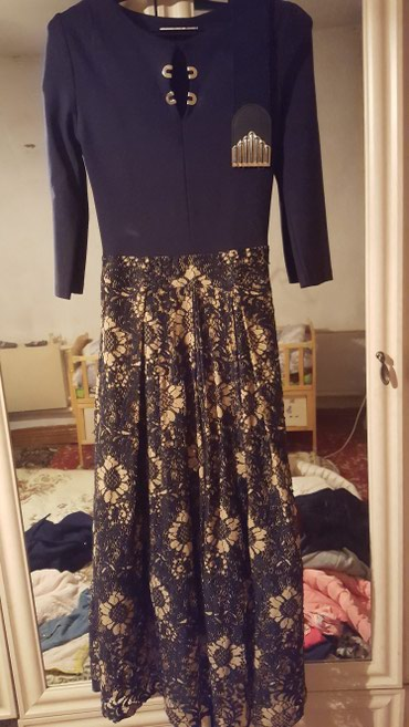 Платье турецкое французской длины. Состояние отличное. С ремнем в Бишкек