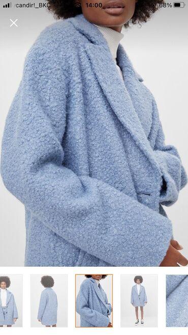 серьги синего цвета в Азербайджан: Пальто