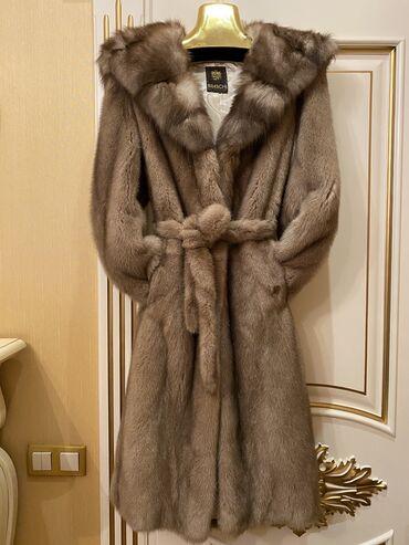 секционные ворота бишкек в Кыргызстан: Braschi, Италия. Норка, воротник и капюшон соболь, 46 размер