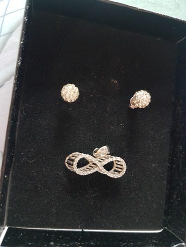 Srebrni privezak i srebrne mindjuse; moguce je kupiti i samo jedno u - Belgrade