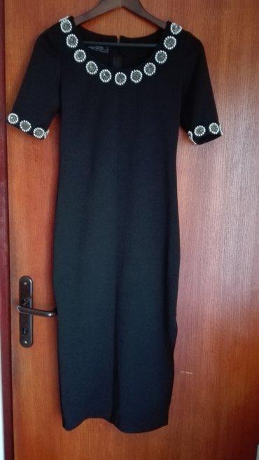 Crna haljina virginie,38 velicina,iz turske,duzina je 118cm,sa leve - Novi Sad