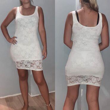 Bela haljina sa cipkom - Srbija: ⚠Bela cipkasta haljina,lepa i svecana⚠Vidi se na slici da je