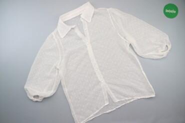 Жіноча прозора блуза у горошок р. XL   Довжина: 69 см Ширина плечей: 4