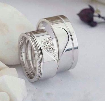 Xırdalan şəhərində 2 li gümüş üzük sifarişlə təmiz gumusden düzəldilir