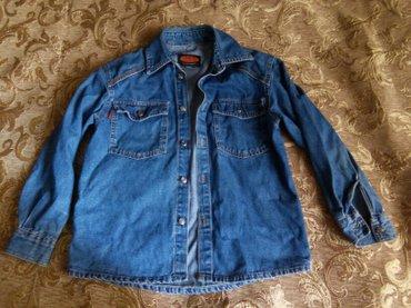 свободная рубашка в Кыргызстан: Джинсовая рубашка, размер xs-s, состояние хорошее, крой свободный