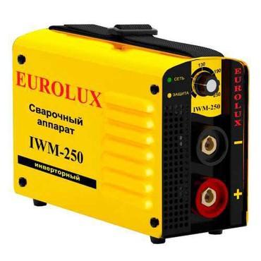 Сварочный апорат - Кыргызстан: Инверторный сварочный аппарат Eurolux IWM250Brand:EuroluxОбщие