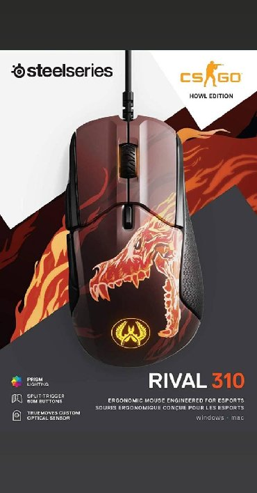 steelseries - Azərbaycan: Steelseries Rival 310 CS:GO edition model oyun sicani countre strike(
