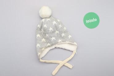 Дитяча зимова шапка з помпоном та зав'язками     Довжина: 26 см Напіво