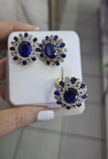 серебряные обручальные кольца бишкек in Кыргызстан   ГРУЗОВЫЕ ПЕРЕВОЗКИ: Срочно!!Комплект, серьги и кольцо, бриллиант и сапфир, срочная продажа