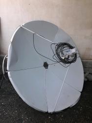 купить-спутниковую-тарелку в Кыргызстан: Продаю спутниковую антенну. 2 головки, ресивер срочно прошу 1500