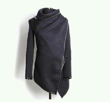 женские пляжные накидки в Азербайджан: Легкая накидка темно серого цвета.На весну-осень.Как новая.Yungul