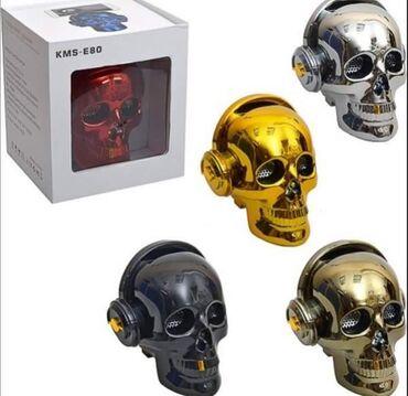 BEŽIČNI Zvučnik za telefon LOBANJA / kosturska glava KMS-E80 5W + 1