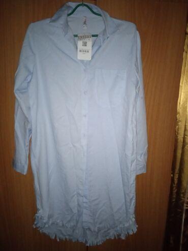 Женская одежда - Мыкан: Новая Рубашка платье размер s . Моделька супер. Турция. Отдам за 650