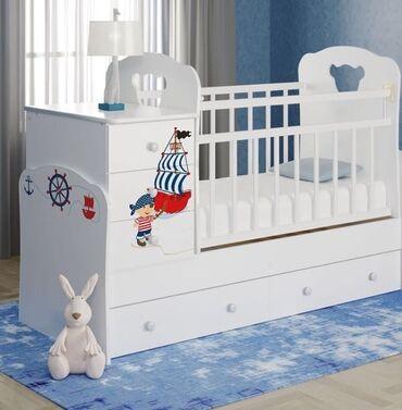 Детская мебель - Цвет: Белый - Бишкек: Кроватки ВДК Россия манеж трансформер Размер 180*60 С рождения до 12 л