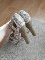Sandale broj 38, gaziste 24,5cm  ocuvane stikle, prelepe i udobne - Sremska Mitrovica