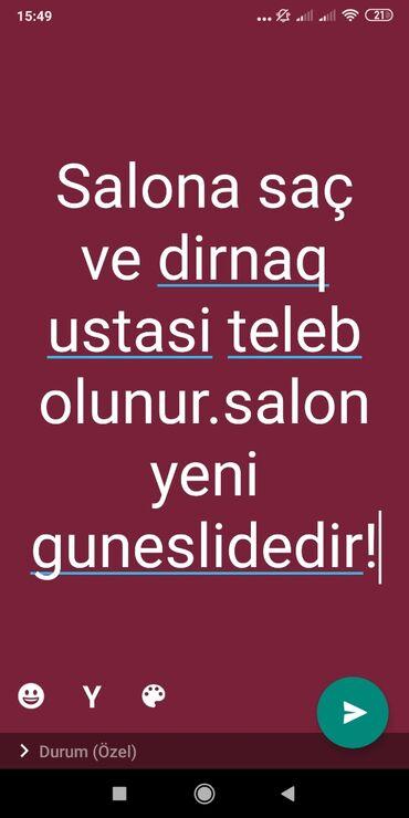 dirnaq - Azərbaycan: Manikur ustası. 1-2 illik təcrübə. Yerin icarəsi. Suraxanı r-nu