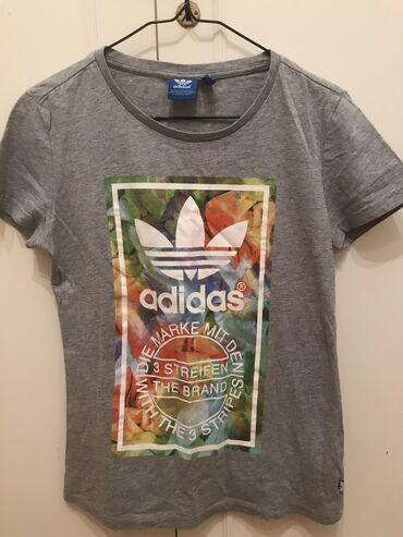 Adidas T-shirt γκρι, small