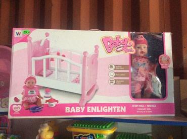 Большая кукла с кроваткой набор! Большие куклы! в Бишкек