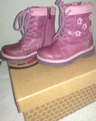 розовый палас в Кыргызстан: Детские зимние ботинки. Размер 27. Кожа, внутри шерсть. Производство