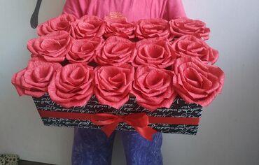 Цветы из гофрированной бумаги, ручная работа