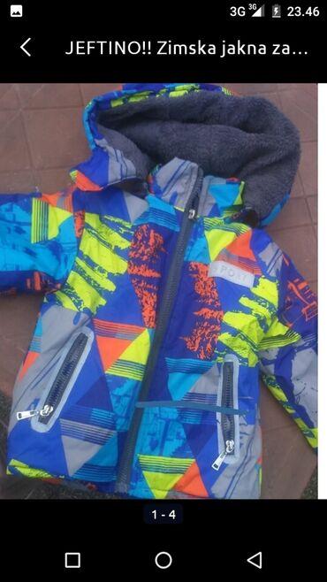 Zimska jakna za decaka 106 velicina.Oblozene, topla. Jakna je kao