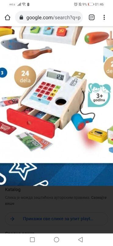 NOVO drvena igracka kasa za uzrast 3+