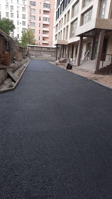 Другие строй услуги - Кыргызстан: Асфальт.Услуги по укладке асфальта с подготовкой основания, монтаж