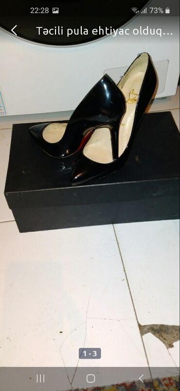 zamşa qadın ayaqqabıları lodoçka - Azərbaycan: Qadın ayaqqabısı qara stiletto baha alınıb razner 38 qiyməti 10 azn