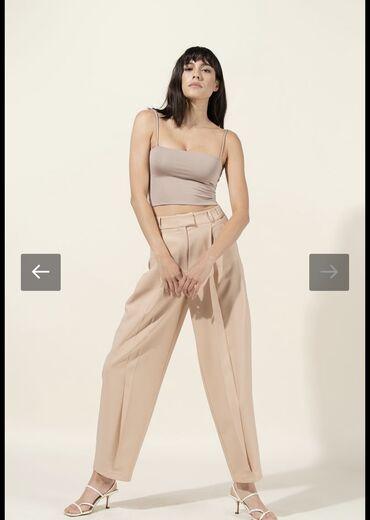 Нюдовые брюки В отличном состоянии, 36 размер ()  Сидят свободно и сти