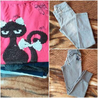 Zenske farmericecine - Srbija: Ocuvana decija zenska garderoba vel.12 osim teksas jaknice koja je