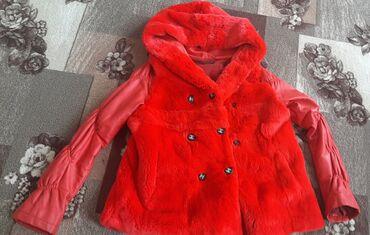 Осенняя, подростковая куртка. Натуральный мех и кожа