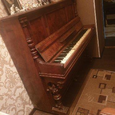 Спорт и хобби - Ак-Джол: Антиквариатное немецкое пианино 1864 года,расширенная клавиатура из