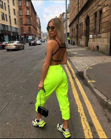 Neon žuta zelena roze trenerka    Univerzalna veličina