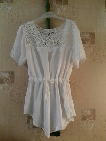 Белая блузка размер 44- 46 .Хлопок.В хорошем состоянии 350с в Бишкек