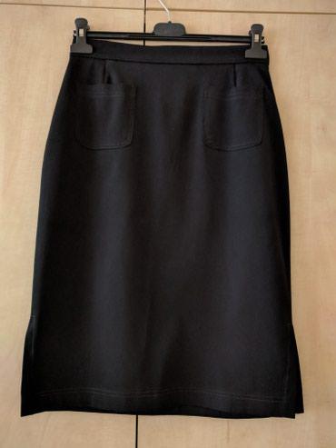 Uno Martin crna letnja suknja bez podstave ravnog kroja sa strane dva - Palic
