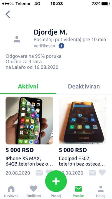 Zrenjanin - Srbija: Djordje - Zrenjanin prevarant umesto mobilnog telefona poslao mi je ka
