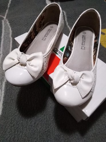 Ženska obuća | Sremska Kamenica: Kao nove, bele baletanke broj 40,kalup 39,jednom obuvene