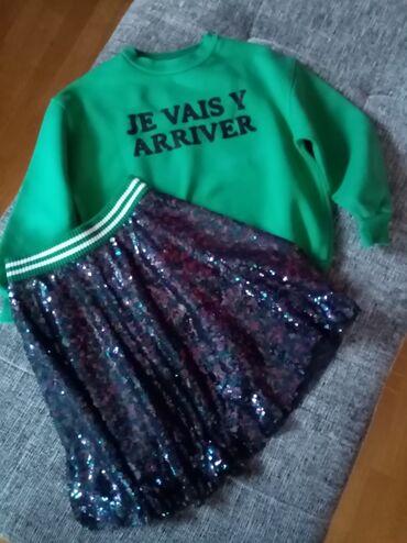 Suknja - Srbija: Duks i suknja Zara kids, u odličnom stanju bez ikakvih tragova nošenja