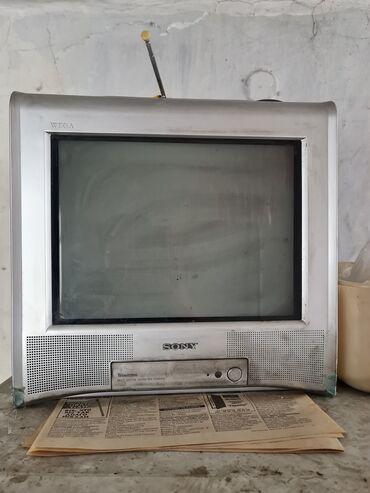 Телевизор серый Сони 2000с  Телевизор чёрный 1000с