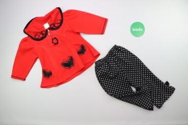 Другие детские вещи - Б/у - Киев: Дитячий костюм у горох з метеликами (кофтинка та штани)    Кофтинка До