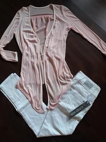 Prelep ženski letnji komplet - Novo... Roze kardigan univerzalne - Ruma