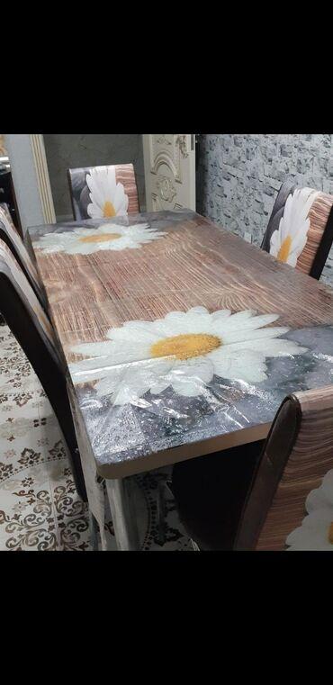 1 stol 5 stul masa açılıb yığılır az müddət işlədilib 350 alınıb 150