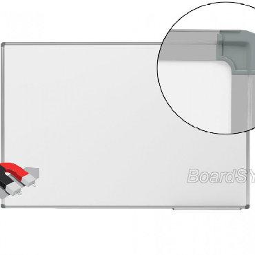 Флипчарты магнитно маркерная меловая маленькие - Кыргызстан: Доска магнитно-маркерная 1-элементная 90х120 алюминиевый профиль