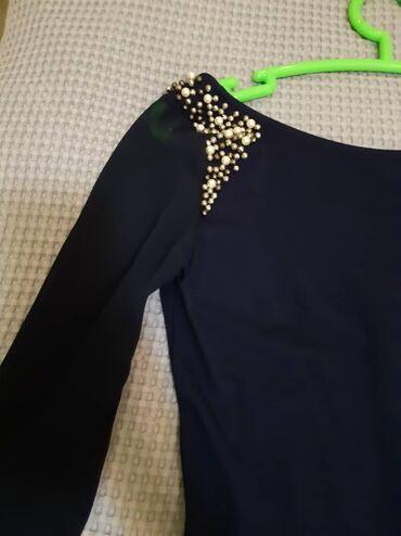 вечернее платье синий цвет в Кыргызстан: Продаю вечернее платье темно синего цвета качества люксразмер м